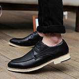 British Men's Casual Business Increase Height Popular Retro Shoes