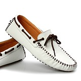 Genuine Cow Leather Casual Drive Peas Shoes