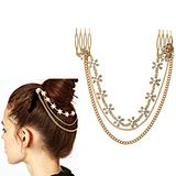Europe Diamond Flower-Shaped Personalized Fashion Hairpin Comb