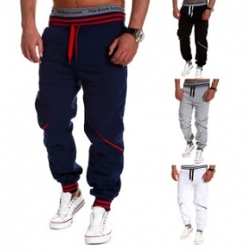 Europe Crash of Color Stitching Casual Sports Long Trousers