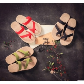 Japanese Couple Twine Flops Sandals Slippers