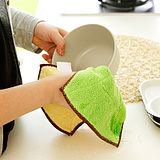 Thick Double-Sided Microfiber Absorbent Lint-Free Kitchen Dishcloths