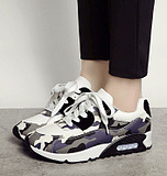 Europe Camouflage Thick-Bottomed Female Cushion Sports Shoes