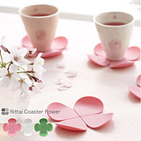 Creative Stereo Flower-Shaped Silicone Coaster Anti-Scalding Coffee Cup Pad