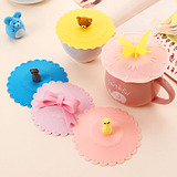 Lovely Cartoon Multifunction Food-Grade Silicone Seal Leak Dust Cup Lid