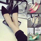 Korea Pointed Thick High-Heeled Princess Shoes