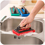 Strong Decontamination Ceramic Sink Kitchen Bathroom Sponge Bottom Cleaning Brush With Handle