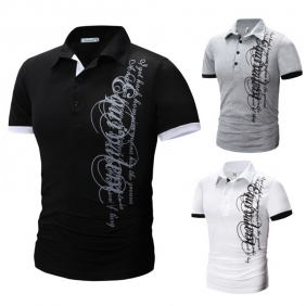 Unique Design Collar Short Sleeve POLO Shirt