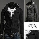 Fashion Korean Slim Fit Men's Thick Hooded Sweater Jacket