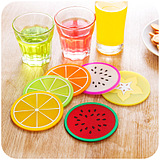 Color Colorful Jelly Fruit Shape Silicone Cup Pad Coaster