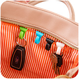 Creative Anti Lost Bag Hooks Built In Key Holder / 2 pcs