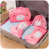 Cute Pink Travel Clothing Finishing Make up Pouch Bags