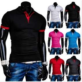 Men Crash of Color Casual Short-Sleeved POLO Shirt