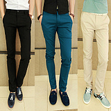 British Men's Casual Pants Trousers