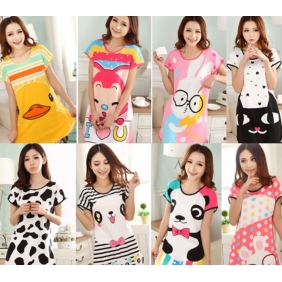 Cute Couple Sika Milk Lovely Lady Short-Sleeved Pajamas