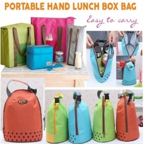 Portable Hand Thickened Lunch Meal Bag Insulated Lunch Box Ice Bag