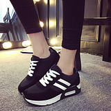 Casual Lace Students Running Round Head Canvas Shoes