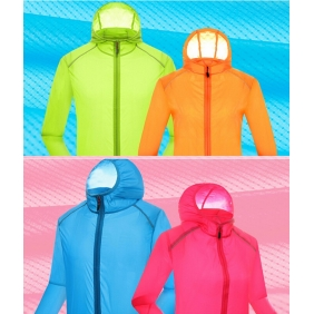 Ultra-Thin Breathable Quick Dry UV Sunscreen Clothing Long-Sleeved Couple Windbreaker Jacket