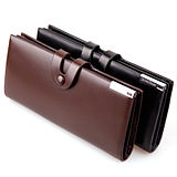 Men's Long Wallet Personalized Buttons Wallet