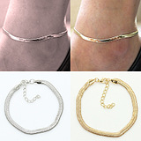 European Fashion Simple Atmospheric Metal Snake Chain Anklet/pc