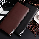 Men's Business Slim Fit Short Section Iron Side Leather Wallet