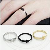 European Fashion Minimalist Metallic Arrow Opening Adjustable Ring