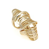 European Fashion Simple High Quality Joint Geometry Hollow Ring