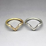 European Fashion Minimalist Metallic Tail Ring