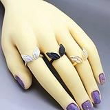 European New Angel Wings Opening Ring