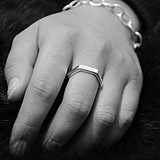 European Fashion Minimalist Geometric Hexagon Punk Rings