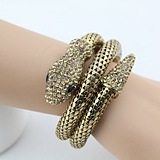 Europe Retro Nightclub Exaggerated Personality Punk Diamond Snake Bracelet