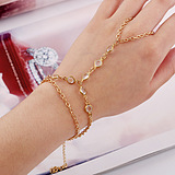 European Fashion Simple Mittens Diamond Bracelet