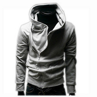 Korean Side Zipper Men's Hooded Sweater Jacket