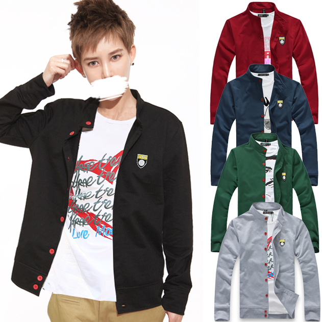 Korean Collar Men's Thin Jacket Sweater Cardigan