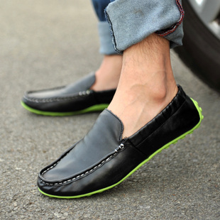 Korean Trend Retro Men's Casual Peas Lazy Shoes