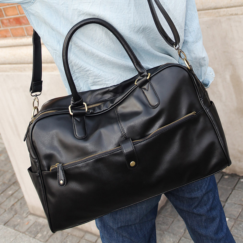 British Men's Fashion Casual Solid Color Shoulder Messenger Men's Bag