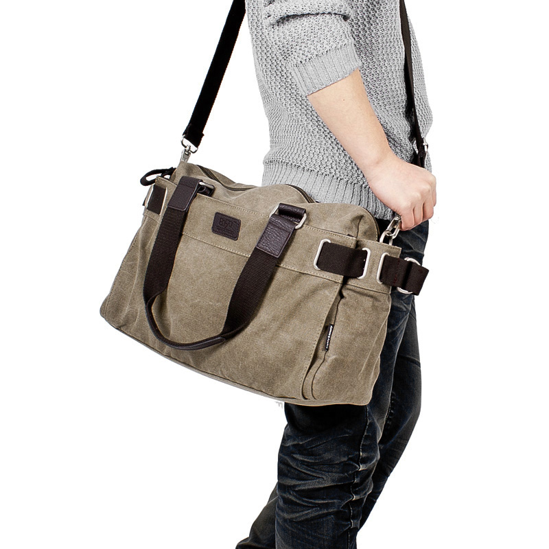 Korean Men Shoulder Messenger Casual Canvas Bag