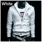 England Style Casual Badges Men Slim Fit Sweater Jacket