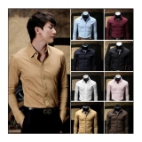 Korean Slim Fit Long-Sleeved Men's Shirt