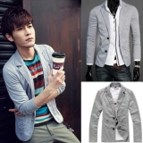 Korean Men's Slim Fit Small Suit Jacket(Two Button)