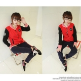 Korean Fashion Baseball College Baseball Women Sweater