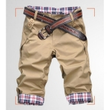 Korean Slim Men Short Pants Trousers