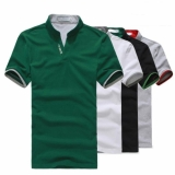 Korean Men's Stand-up Collar Slim Fit Short-sleeved Polo T-shirt