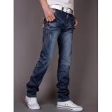 Korean Casual Straight Men Long Pants Jeans