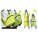 Korean Trendy Multifunctional Foldable Trolley Bag - Great & Convenient For Grocery Shopping Or Traveling