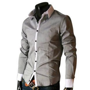 Korean Casual Long-sleeved White Collar Shirt