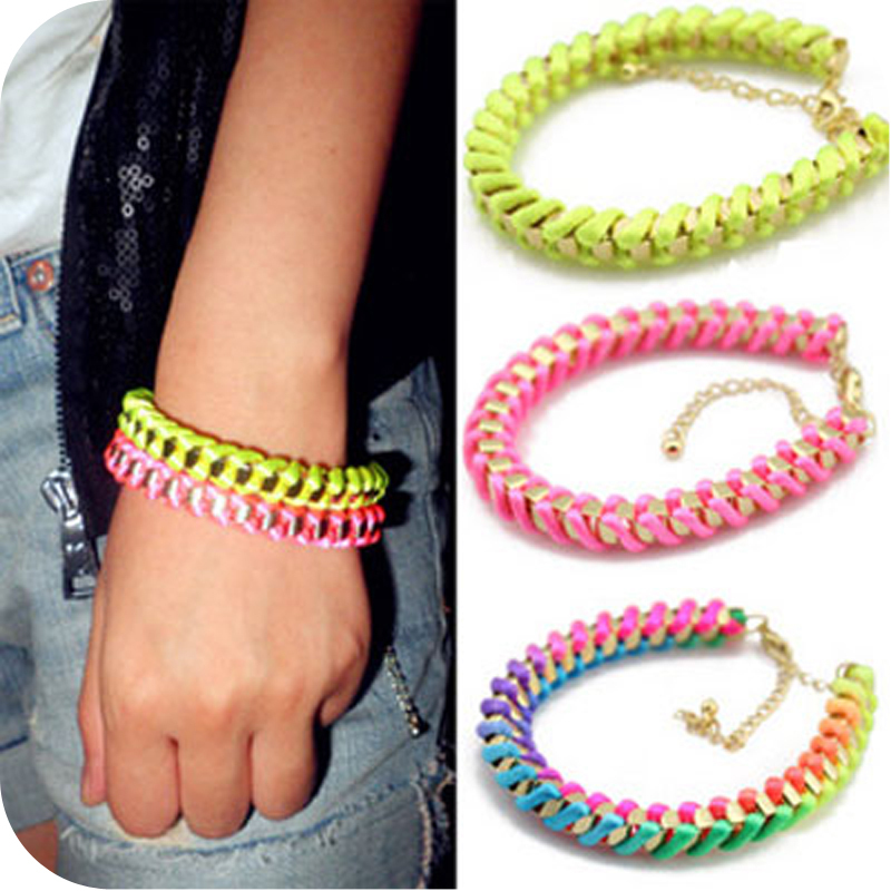 European American Fashion Color Bracelet