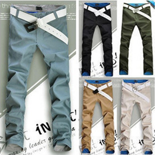 Korean Men's Fashion Slim Fit Casual Pants Trousers