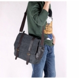 Men Shoulder Messenger Casual Canvas Bag