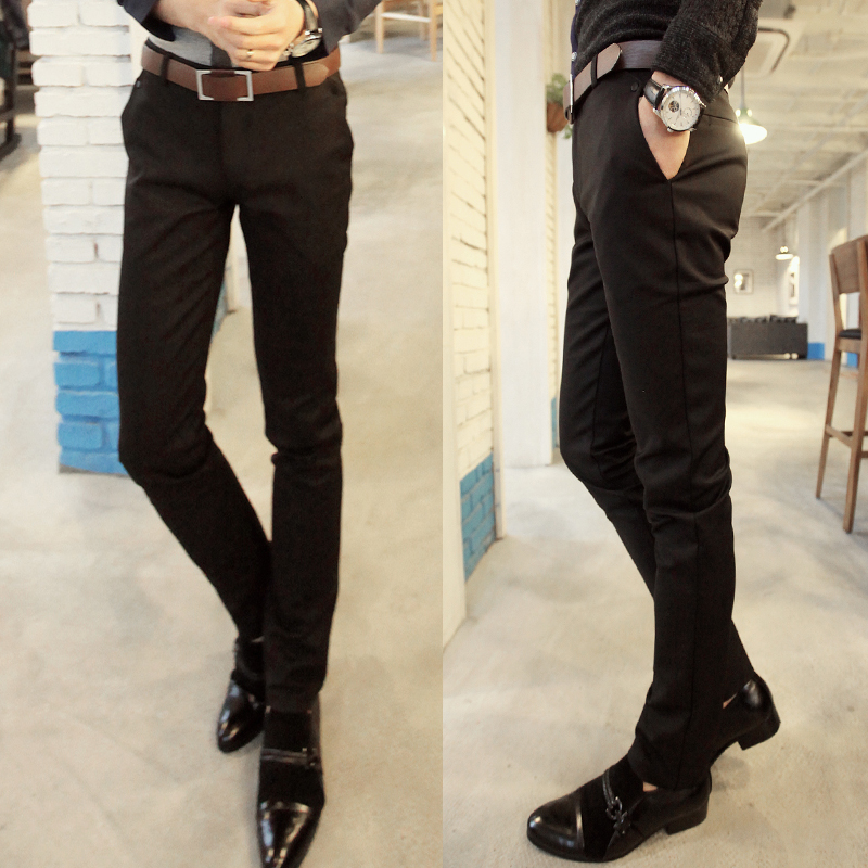 Korean Slim Fit Skinny Casual Pants Trousers